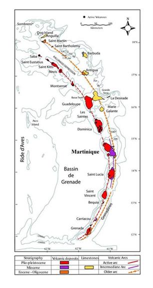 carte des Antilles géothermie CFG