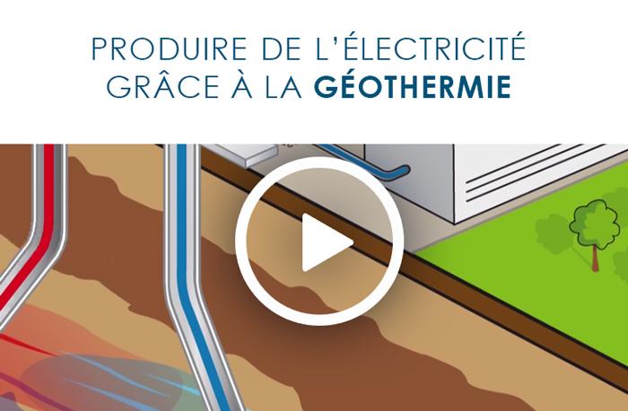 Production électricité géothermie
